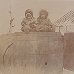 image of 1895 Photograph of Two Inuit Children