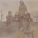 image of 1895 Photograph of Inuit Man and Children