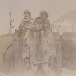 image of Inuit Man and Children, 1895