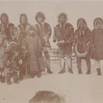 image of 1895 Photograph of Inuit Men, Women, and Children