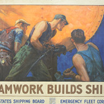 "image of ""Teamwork Builds Ships"" Poster"