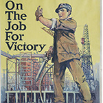 "image of Recruiting poster, ""On the job for victory"""