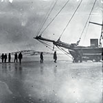 image of Crew Preparing Whaling Schooner <em>Era</em> For Winter