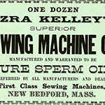 image of Label for Ezra Kelley's Sewing Machine Oil