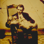 image of Portrait of Everett A. Scholfield with Dog