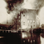 image of Fire at Gilbert Block, Mystic, CT - 1915