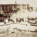 image of Aftermath of Fire in Gilbert Block, Mystic, CT - 1915