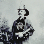 image of John H. Hoxie, Foreman of B.F Hoxie Steam Fire Engine Co., Mystic, CT, circa 1887