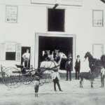 image of Livery stable of J.E.F. Brown, Water Street, Mystic, CT, circa 1878