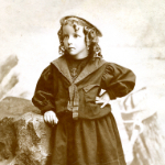 image of Portrait of Young Girl in Sailor Outfit
