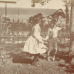 image of Children, Cart, Horse, and Carriage, Greenmanville Avenue