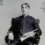 "image of Portrait of ""Max Jeager"" Holding a Trumpet"