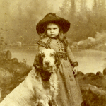 image of Portrait of a Girl with Dog
