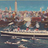 "tumbnail of: ""The Queen Mary in New York Harbor, New York City"""